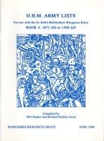 DBM Army Lists #4 - 1071 AD to 1500 AD (1st Edition)