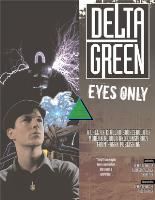 Delta Green - Eyes Only (Limited Edition)