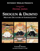 Gamer's Guide to Feudal Japan - Shogun & Daimyo, Military Dictators of Samurai Japan