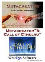 Metacreator w/Call of Cthulhu