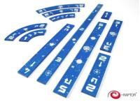 Star Wars X-Wing Rulers Set - Blue