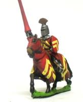 Mounted Knights 1250-1350 w/Assorted Crested Helms, Heater Shield, L., & BH. - Assorted