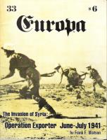 """#33 """"Invasion of Syria - Operation Exporter June-July 1941"""""""