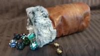 Brown w/Grey Fur Dice Bag