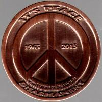 Nuclear War Peace/War Coin