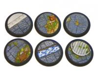 40mm Rolled Lip Round Bases - Complete Set