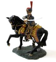 Horse Artillery Mounted Officer Reining Horse Round & Pointing w/Sword #1