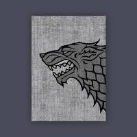 Card Sleeves - Standard CCG Size, House Stark (50)