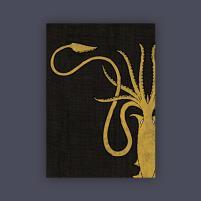 Card Sleeves - Standard CCG Size, House Greyjoy (10 Packs of 50)