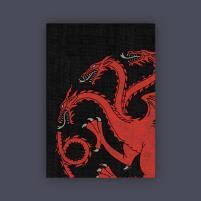 Card Sleeves - Standard CCG Size, House Targaryen (10 Packs of 50)
