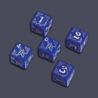 Arkham Horror Blessed Dice Set - Blue w/Silver (5)