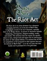 Bard's Gate - The Riot Act (5e)