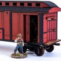 19th C. American Baggage Car (Red) (Pre-Painted)