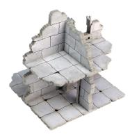 Frozen City Ruins - Two-Storey Junction Wall (Pre-Painted)