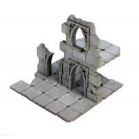 Frozen City Ruins - Two-storey Ruinous Wall (Pre-Painted)