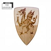 Tudor Welsh Dragon Etched Shield
