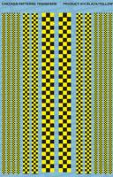 Checker Pattern 1 - Black/Yellow