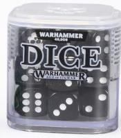 D6 12mm Dice Cube - Black (20)