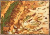"30"" x 42"" Vinyl Game Mat - Dark Sun World Map"