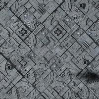"""36"""" x 36"""" Vinyl Game Mat - Asteroid Field/Space Station"""