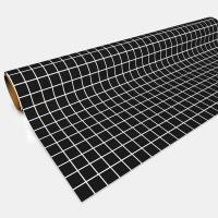 "Paper Game Mat - 30"" x 12', Black (1"" Squares)"
