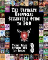 Volume #3 - Advanced D&D 1st Edition