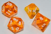 """Jumbo"" Poly Set - Translucent Fire w/White Ink (4)"