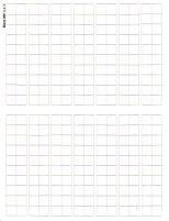 "Blank Counter Sheet 1/2"" (White) (10 Pack)"