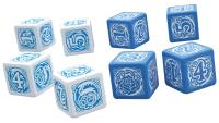Blue Rose Dice Set (6)