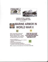 Green Steel Series #1 - Marine Armor in WWII