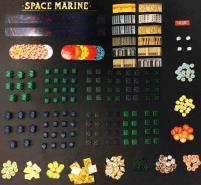 2 Aim /& 1 Scatter 1991 Warhammer Epic 40k SPACE MARINE 2nd Edition Dice Set