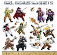 Girl Genius Magnet Set