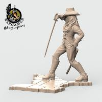 Dixie from the Confederate Cavalry (54mm)