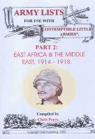 Army Lists #2 - East Africa & The Middle East, 1914-1918