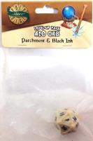 1d20 Orb - Parchment & Black Ink