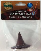 1d20 Wizard Hat - Heartwood & Moonsilver