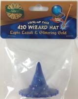 1d20 Wizard Hat - Lapis Lazuli & Glittering Gold