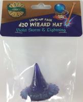 1d20 Wizard Hat - Violet Storm & Lightning