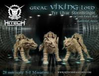 Great Viking Lord - Tyr Ulvar Stormbringer on Panzer Wolf