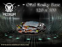 120x100mm Oval Base - Rocky