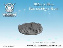 68x102mm Oval Base - Rocky