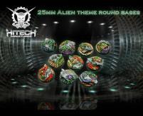 25mm Round Bases - Alien Themed (10)