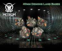 40mm Round Bases - Demons Land (5)