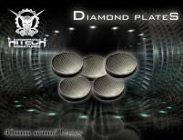 40mm Round Bases - Diamond Plate (5)