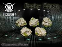 40mm Round Bases - Rocky (5)