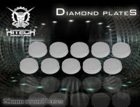 25mm Round Bases - Diamond Plate (10)