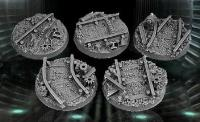 40mm Round Bases - Railroad (5)
