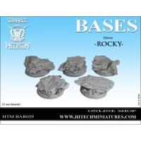 32mm Round Bases - Rocky (5)