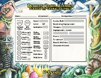 Zero Level Scratch Off Character Sheets