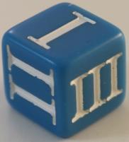 D3 Roman - Blue w/White